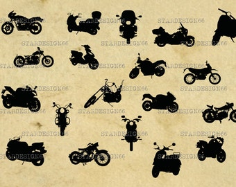 Digital SVG PNG JPG Motorcycles Bike, scooters , harley, motocross, vector, clipart, silhouette, instant download