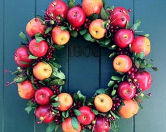 All Season Apple Wreath