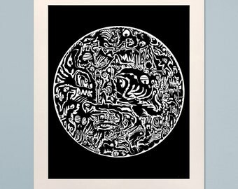 Creature Circle Poster