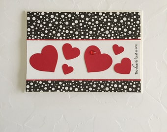 Two Hearts Beat as One Valentine's Day Card