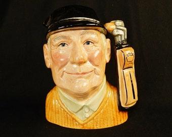 "Toby Character Jug (Large) ~ ""Golfer"" ~ Royal Doulton D6623 ~ #TOBY_J06"