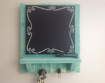 Chalk Board Key Rack