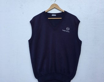 Vintage 90's SERGIO TACCHINI Sleeveless Tank Made in Italy Size L