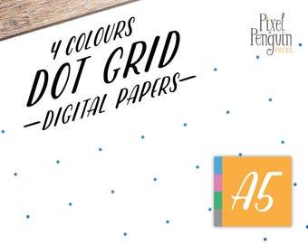 Dot Grid Printable, A5 Dot Paper, Bullet Journalling, Bujo Sheet Planner, Bullet Journal Printable, Bujo Insert, Filofax, Starter Kit