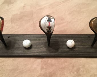Vintage Walter Hagen Golf Club Coat/Hat Rack