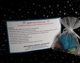Grief Ease Mojo Bag - provides soothing energy healing for the broken heart