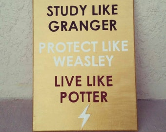 """Harry Potter Themed 8.75""""x12"""" Handpainted Canvas Wall Decor"""