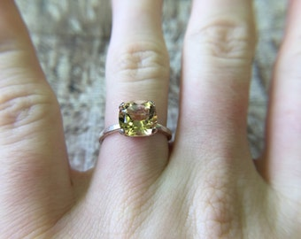 Sale! Silver Citrine Ring
