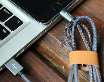 Denim Iphone charger 1 meter