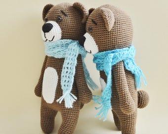 Choco the Bear amigurumi crochet pattern