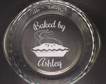 Personalized Pie Dish • Pie plate • Bakeware • Grandmother • Apple pie • Wedding • Bridal shower • Sand etched • Gifts for her • Custom