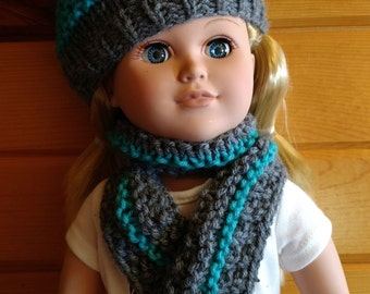 18 inch doll hat and scarf