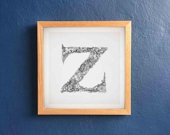 """Floral Letter """"z"""""""