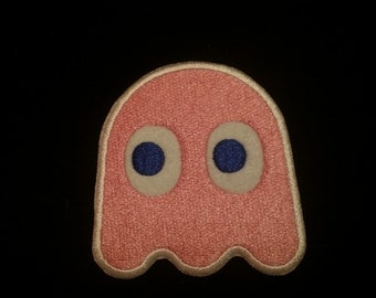 Vintage Pacman arcade ghost Pinky patch