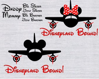 Disneyland bound SVG Bundle, Disney bound svg, Disney vacation svg, svg files for silhouette, cricut download, svg files, dxf, png,cut files