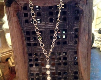 Pearls and Silk Necklace