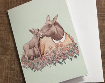Card - mother's day / Moose