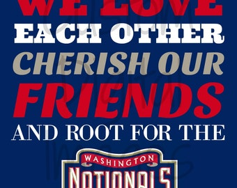 """INSTANT DOWNLOAD Washington Nationals Inspired """"In Our Home"""" 