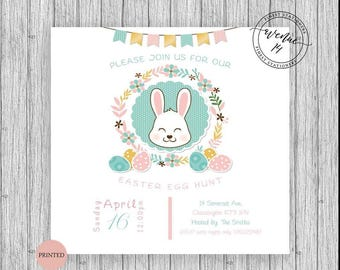 Easter egg hunt invites customized personalized 5x5 cards packs