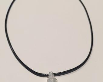 Tiny dainty flower bottle necklace