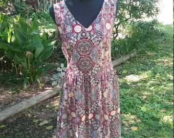 Ladies dress//100%cotton//aboriginal facric