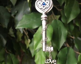 Love Knot Key Necklace