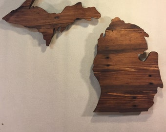 Michigan State  Sign, Michigan Wood Sign, Michigan Home Decor, Michigan Pallet Sign