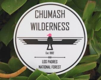 """Chumash Wilderness Vinyl Sticker - 3"""""""