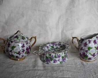Vintage Tea Set - 3 Pieces - Norcrest Japanese China