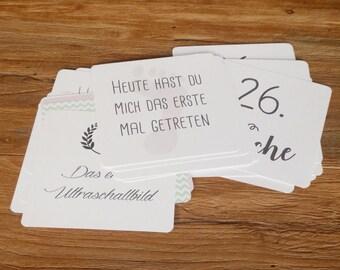 Pregnancy Milestone cards (20 cards)
