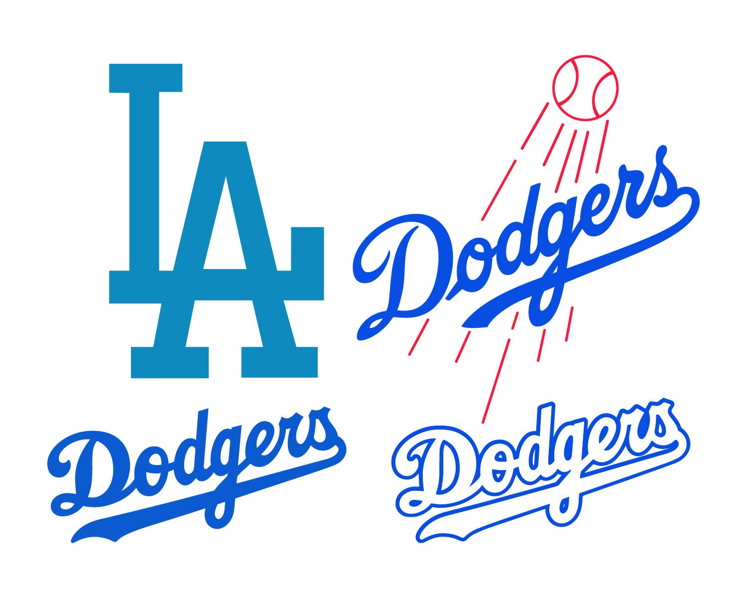 los angeles dodgers cut files los angeles dodgers svg files