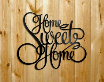 Home Sweet Home Wall Art laser cut metal art | etsy