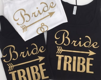 Bride & Bride Tribe Women's Hen Party / Bridal Party / Bachelorette Vest Tops.