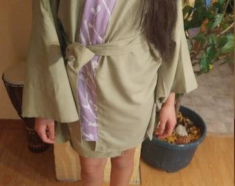 Reclaimed vintage cotton kimono