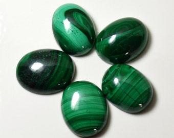 Malachite Lot, Green Stone, Total 90 Carat Beautiful Lot, Green Stone Lot , 5 Pcs Lot, Natural Malachite Lot, Genuine Malachite, Loose Stone