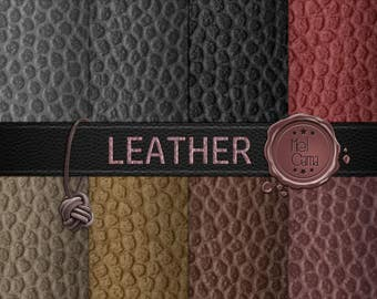 Leather in digital paper / Leather texture in Digital Paper for scrapbooking / Beautiful leather textures for scrapbook / Instant Download