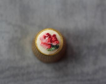 "Thimble with ebroidery ""Rose"" 12mm"
