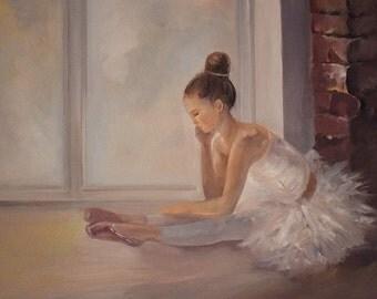"Original Oil Painting on Canvas | ""Ballerina"" - 20""x16"" | Fine Art | Paint from Photo"