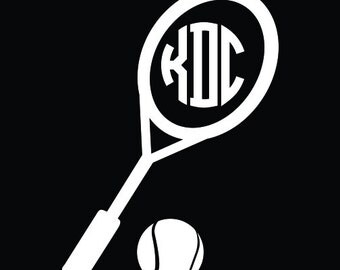 Personalized Tennis Decal