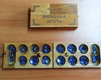 Mancala Strategy Game Large Oriental Hornbeam Board