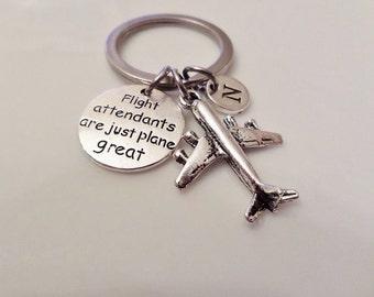 Flight attendant gift, Pilot gift, Stewardess gift, Flight Attendant are just plane great key chain, Aviator, Airplane keychain, Aeroplane