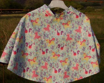 Unicorn themed dress up cape
