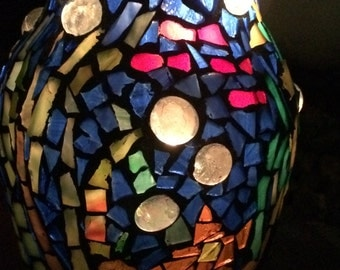 Mosaic 'Undersea World' Candle Holder