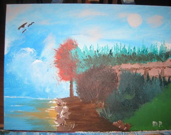 Original Acrylic Painting on Board (Path on the Water)