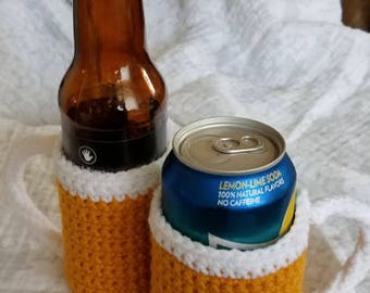 Beer Glass Bottle/Can Cozy Combo