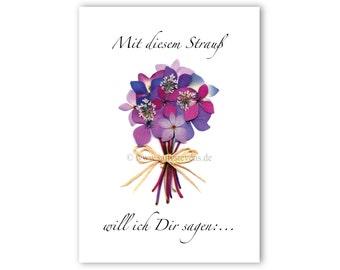 Greeting cards - pressed flower motif