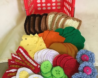 Play foods, sandwich basket set