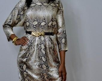 Reptile print mini dress