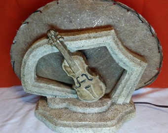 Vintage Violin TV lamp by Metro Art