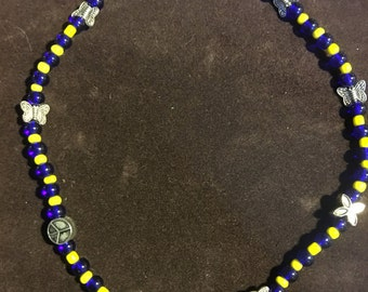 Blue & Yellow Happiness necklace